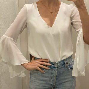 Zara white flowy tip low back XS
